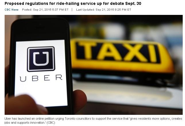 Uber membuat petisi online terhadap dewan kota Toronto.