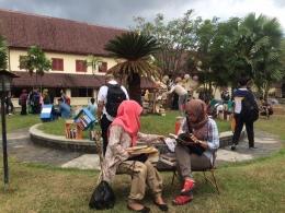 Suasana perhelatan Makassar International Writers Festival (MIWF) 2016 (sumber foto: Facebook Imhe Mawar)