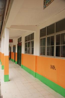 Hasil renovasi pengecetan ulang Sekolah Negeri 013 Pulau Geranting.