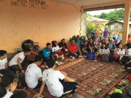 Penyambutan di Balai Desa.