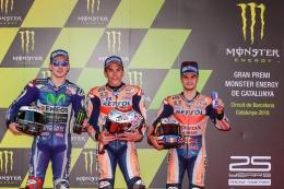 Tiga rider Spanyol di first row (dok.motoGP.com)