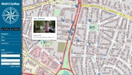 MathCityMap di Kota Frankfurt beserta beberapa task (Screenshoot: http://mathcitymap.eu/en/portal-en/)