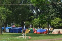 Sebagian tenda peserta dalam Jambore Nasional X-2016. (Foto: ISJ)