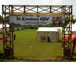 Area Global Development Village (GDV) dalam Jambore Nasional X-2016 yang sedang disiapkan. (Foto: ISJ)