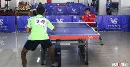 Pertandingan dengan menggunakan Meja Tenis Shiamiq (sumber:soloevent.id)