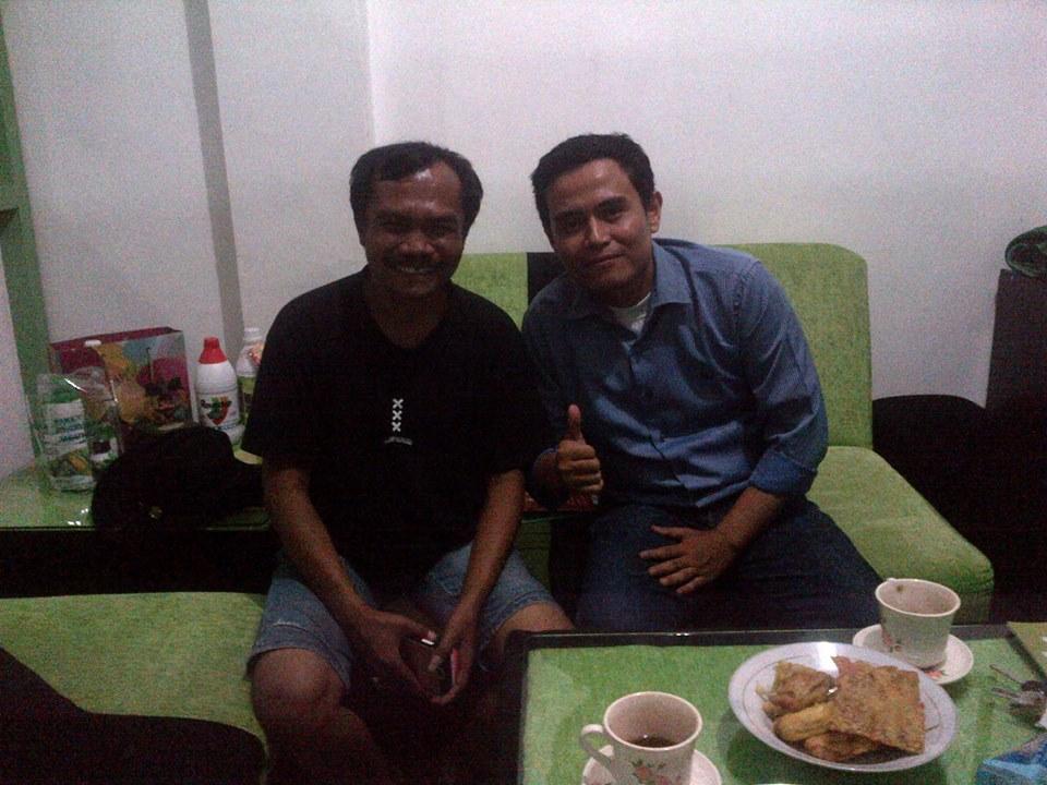 Penulis Dengan Masril Koto di Kantor Cabang PT. Vasham Bandar Lampung, Sabtu (27/08/2016)