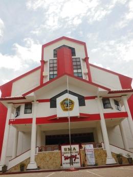 Kampus SMA 17 Agustus 1945 'UNTAG' Surabaya tempat berlangsung Gerakan Nasional Literasi Bangsa 2016 Bagi siswa SMA di kota Surabaya