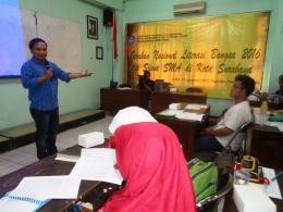 Yusri Fajar di Gerakan Nasional Literasi Bangsa 2016 Surabaya ke-3, 25/9/2016