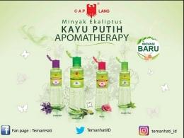 4 Varian Kayu Putih Aroma Therapy. Foto dari Product Knowledge Kayu Putih Aromatherapy