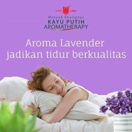 Mari tidur nyenyak dengan menghirup aroma lavender. Foto dari FP Teman Hati