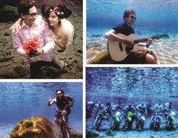 Foto bawah air di Ponggok Klaten yang menjadi viral di dunia maya (gambar: travel.detik.com)