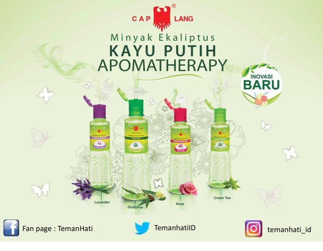Varian Kayu Putih Aromatherapy: Lavender, Ekaliptus, Rose dan Green Tea | Sumber: Materi Kayu Putih Aromatherapy