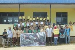 Foto bersama setelah kegiatan PPO 2016 di SMAN 1 Sungai Laur. Foto dok. YP