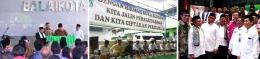 (kiri-kanan: Peresmian Masjid Balai Kota bersama Presiden RI, Safari Ramadhan dan Pemberangkatan 40 orang Marbot)
