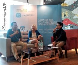Nangkring Kompasiana bareng UANGKU pada bulan Oktober 2016 yang lalu. Ki-ka: Harris Maulana (Kompasianer), Fanny Veronika (Marketing Director UANGKU), Yozh Aditya (MC). (foto: dokpri)