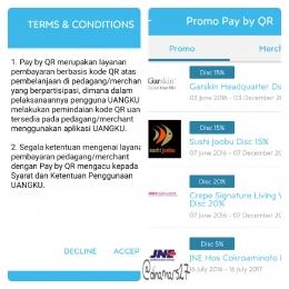 Layanan Pay by QR Code, salah satu fitur dan keunggulan UANGKU yang dapat dimanfaatkan untuk berbelanja offline di merchant-merchant yang bekerjasama dengan UANGKU. Dan, ada promo diskon! (foto: dokpri)