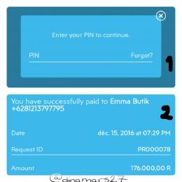 Setiap proses transaksi melalui aplikasi UANGKU selalu meminta password demi keamanan akun UANGKU Anda. (foto: dokpri)