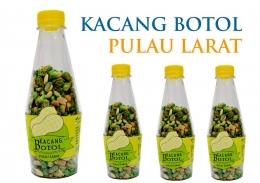 Kemasan kacang botol dalam bentuk berbeda