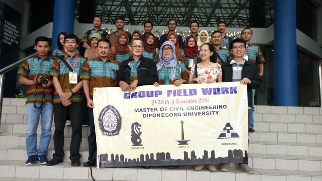Tim GFW Magister Teknik Sipil Undip di NUS