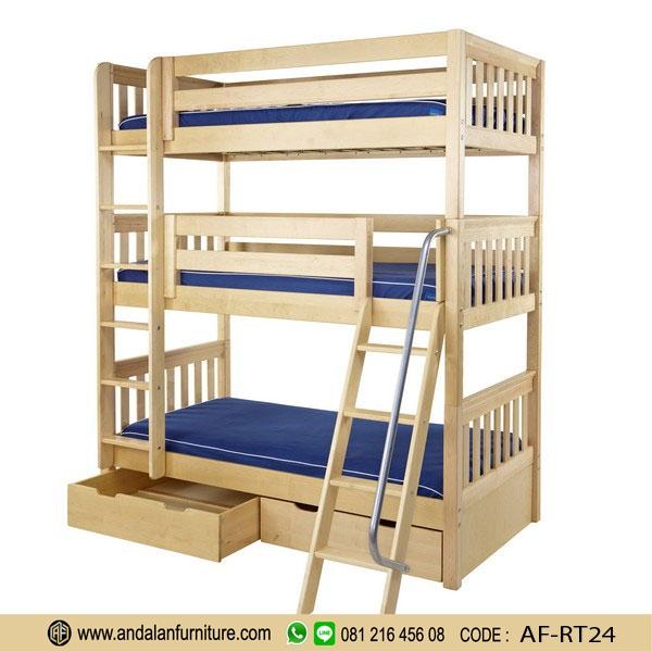 ranjang tempat tidur anak tingkat minimalis oleh riski