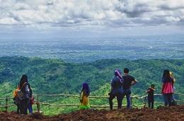 Dokumen pribadi. Hamparan indah pemandangan kota Yogyakarta
