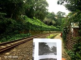 Rel kereta api di belakang Istana Batutulis. Apakah ini termasuk bagian dari Parit Pakuan?