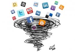 Social Media Vortex - ilustrasi: whatech.com