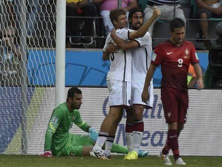 Momen saat Jerman kalahkan Portugal 4-0 di Piala Dunia 2014 Brazil / sumber foto dilansir dari NDTV Sport