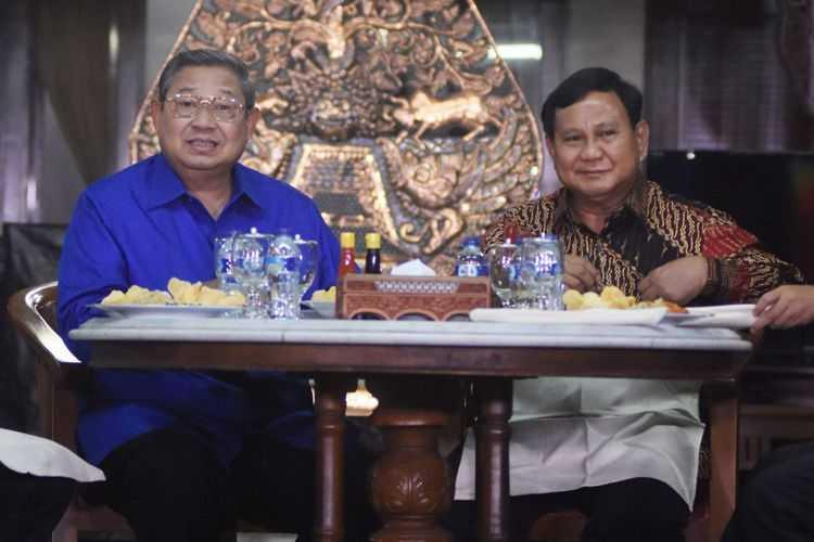 SBY dan Prabowo di Cikeas. Foto: ANTARA FOTO/Indrianto Eko Suwarso