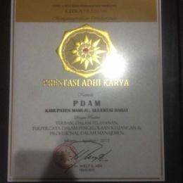 Prestasi Adhi Karya untuk PDAM Tirta Manakarra Mamuju ( Foto Muhammad Nur OKT )