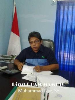 Direktur PDAM Tirta Manakarra Muh.Nur,Se ( Foto Muhammad Nur OKT )