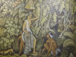 Lukisan karya Ida Bagus Made Poleng (setelah diperbesar) (dokpri)