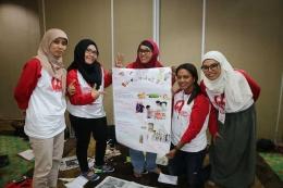 Saya dan teman-teman satu kelompok saat membuat program untuk peberdayaan masyarakat.   Dokumentasi Pribadi