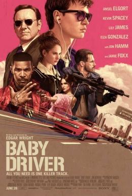 Poster Baby Driver yang makin melambungkan nama Ansel Elgort (dok. IMDB)