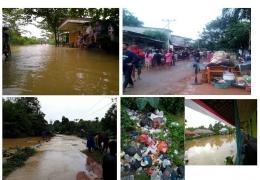 Banjir Jelai Hulu dan wilayah sekitarnya yang terjadi beberapa waktu lalu. Foto dok. monga.id dari berbagai sumber
