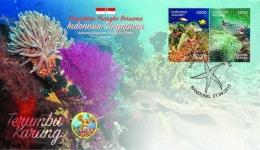 Sampul Hari Pertama prangko Indonesia-Singapura 2017. (Foto: Ditjen PPI, Kominfo)