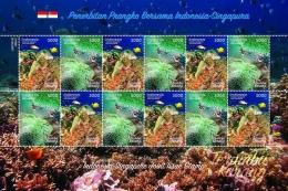 Prangko bersama Indonesia-Singapura 2017 dalam komposisi