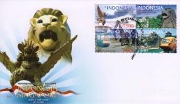 Prangko Indonesia-Singapura terbitan 2009 dalam Sampul Hari Pertama. (Foto: Pos Indonesia)