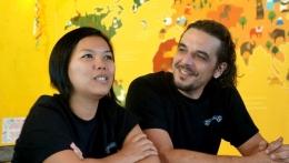 Ibu Nana dan Bapak Matthias, Owner Nanamia Pizzeria Jogja (Dokumentasi Pribadi)