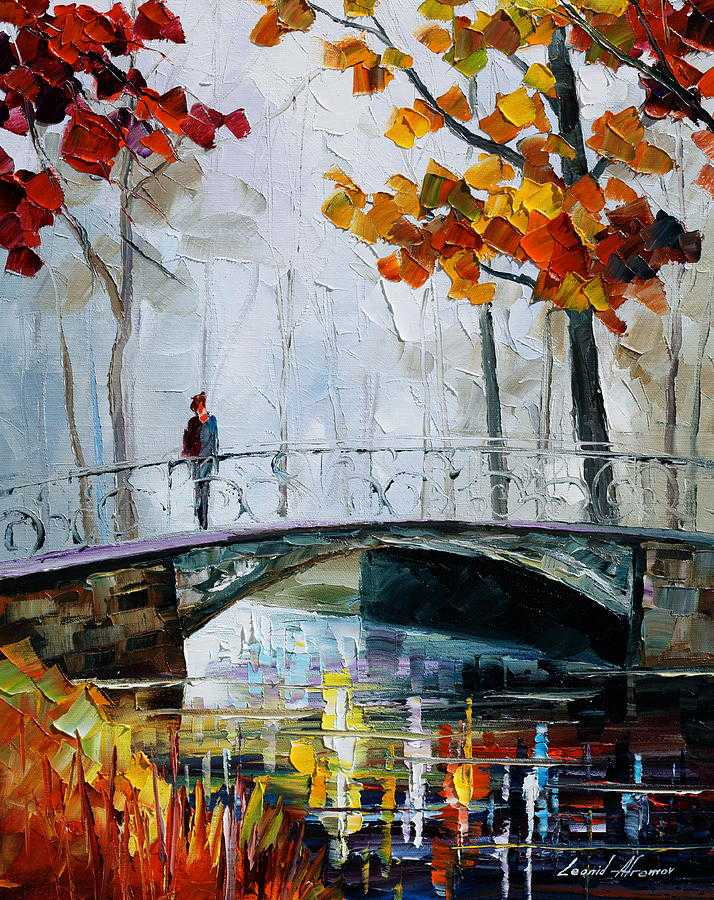 Little Bridge by Leonid Afremov (fineartamerica.com)
