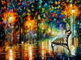 Night Loneliness by Leonid Afremov (afremov.com)