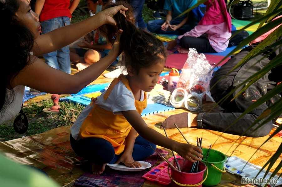 Festival ini melatihan kreativitas anak (Dokumentasi Pribadi)