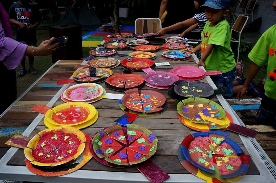 Hasil Craft Pizza anak-anak (Dokumentasi Pribadi)