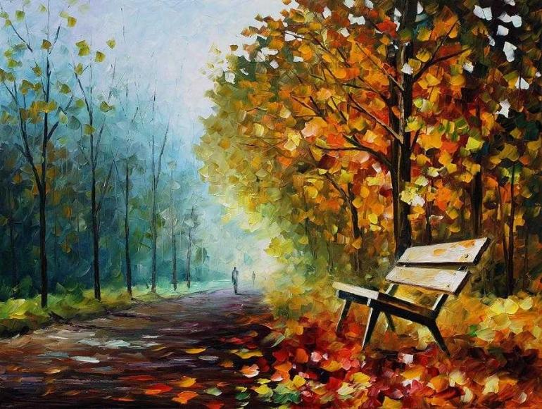 Autumn Park by Leonid Afremov (fineartamerica.com)