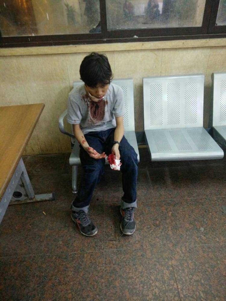Najib, seorang Mahasiswa Indonesia asal banten yang dirampok kemarin (16/10) (sumber : Dokumentasi Pribadi)