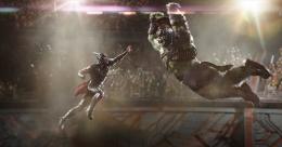 Adegan pertarungan Hulk versus Thor ini ramai dibahas sejak muncul dalam trailer-nya (sumber: IMDB)