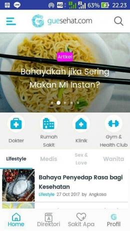 Tips kesehatan terkini bisa diperoleh langsung melalui aplikasi guesehat.com (Sumber:Dokpri)