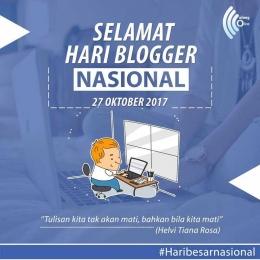 Ucapan Selamat Hari Blogger Nasional. (Foto: MalangOnline)