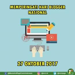 Ucapan Selamat Hari Blogger Nasional. (Foto: MRCI)
