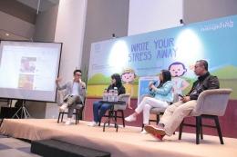 Diskusi hangat bersama founder guesehat Tiffany Robyn Soetikno menyambut peluncuran apikasi guesehat.com (Sumber:Kompasiana)